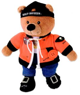Harley Davidson Learn to Dress BEAR12 inch Plush