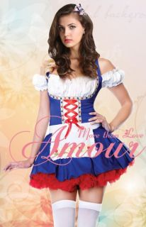 Sexy Wench Swedish Beer Girl Halloween Costume Dress Fancy Party Dress