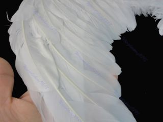 Kids Girls White Feather Fairy Angel Wings Christmas Halloween Party