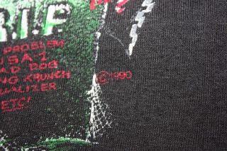 vtg 1990 GRAVE DIGGER thin MONSTER TRUCK t shirt * KILL DEVIL HILLS NC