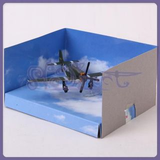 Kids Gift Toy WWII Military Fighter Plane Mustang Aircraft Hobby Model