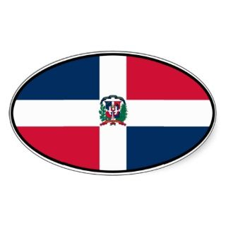 Dominican Republic Euro Sticker