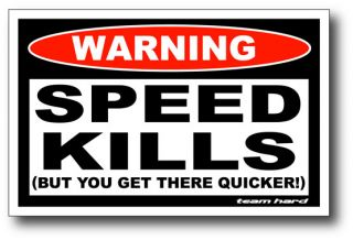 Speed Kills Funny Sticker Decal 4x4 Team Hard ATV UTV