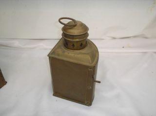 Antique Kilborn Sauer Brass Maritime Oil Lantern Nautical SHIP Lamp