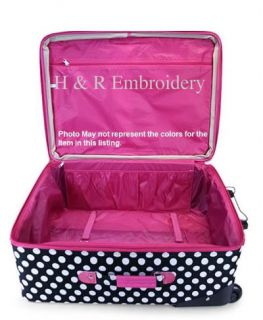 Pink Polka Dot Luggage SM Rolling Suitcase Personalized