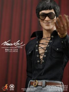 Hot Toys 12 MIS12 Bruce Lee in Casual Wear 1 6 Foot Pegs Rubber