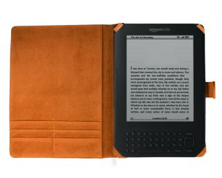 Bundle Monster New Kindle 3 Synthetic Leather Case, Skin, Screen