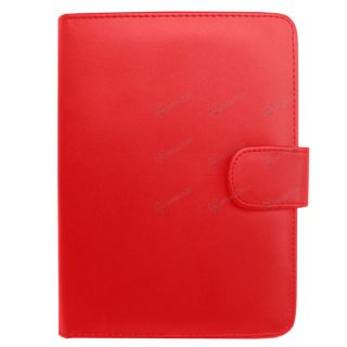for  Kindle Touch   Red Folio Carry Case Cover w/ Charging USB