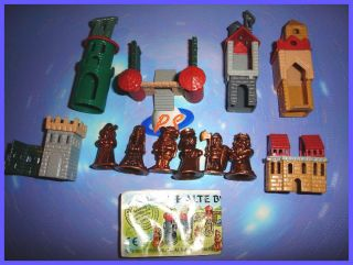 KINDER SURPRISE METAL SET   CASTLE & ROYAL SUITE COPPER   FIGURES