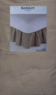Light Brown King Size Ruffled Bed Skirt Bedding New