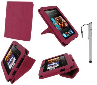 View Vegan Leather Case Cover for  Kindle Fire HD 7 Inch Tablet