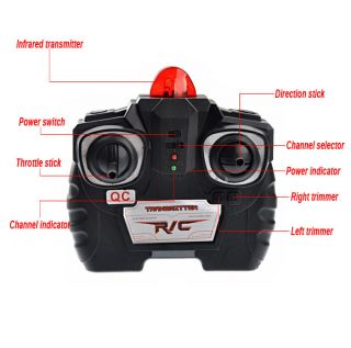 Channel IR RC Remote Control Helicopter With Gyro Kids Toy Gift RED