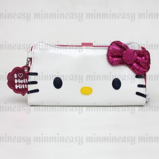 Sanrio Hello Kitty Clutch Sequin Luxury Long Zipper Wallet Coins Bag