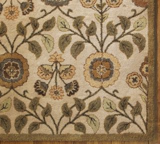 ... Pottery Barn Leaf Floral Wool Rug 8 x 10 Sold Out Pottery Barn ...