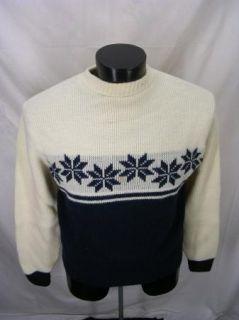 Ugly Christmas Snowflake Kingsport Sweater L 46 Crewneck