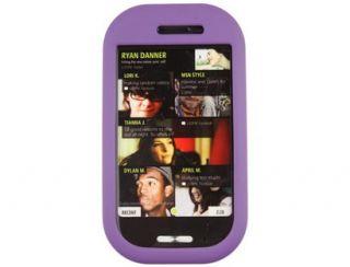 Rubberized Hard Case Dark Purple for Microsoft Kin Two