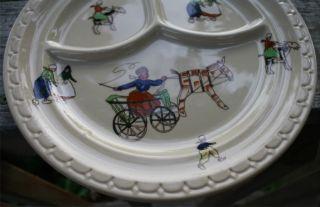 Vtg RARE Kinderhook Dutch Syracuse China Childs Plate