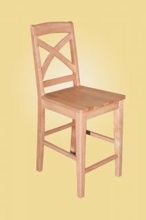 Set of 2 Solid Wood Counter Height Stool Dining Kitchen Chair in Oak