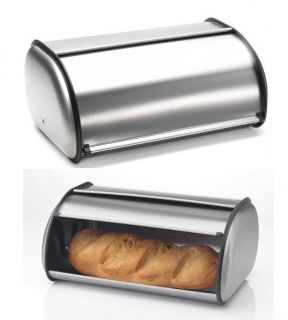 Bread Box Stainless Steel Brushed Baked Food Cake Container Kitchen