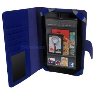 Red Folio Case Cover Skin Pouch for  Kindle Fire Tablet 7