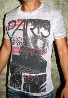 Trendy Kinetix Paris London New York 1981 Gray T Shirt