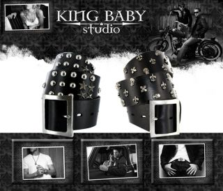 King Baby Studio Flag Fleur Skull MB Cross Belt Alloy