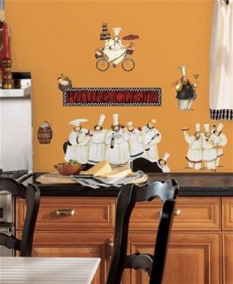 Italian Fat Chef Kitchen Decor Wall Stickers Peel and Stick Decals