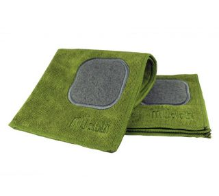 MU Kitchen Avocado 12 x 12 Microfiber Dish Cloth with Scrubber