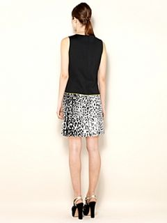 Biba Leopard print panel colour block shift dress Multi Coloured
