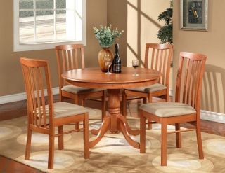 5pc Hartland Round Dinette Kitchen Table Set with 4 Cushion Chairs