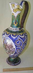 Antique Figural Pottery Pitcher Heinrich V Henry V