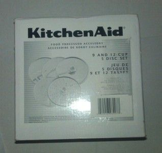 New KitchenAid 9 and 12 Cup Food Processor 5 Disc Set FREE Open Box