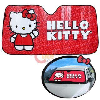 Hello Kitty Front Window Sun Shade / Windshield Shade  Core Auto