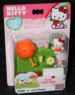 Mega Bloks Megabloks Hello Kitty Picnic Building Set 10816 New 15 Pcs