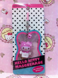 Sanrio Hello Kitty x My Melody Masquerade Mobile Cell Phone Strap