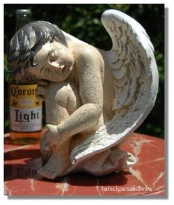 Angel Wings Art Statue Cherub Cottage Chic Cute Nymph Winged Sculpture