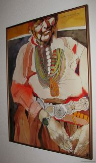 Large Original Watercolor Painting Sari Staggs Listed Artist Signed