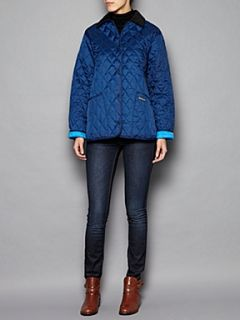 Barbour Shaped liddesdale quilted jacket Light Blue