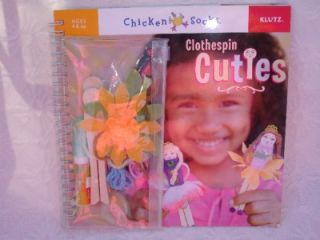 New Klutz Wood Clothespin Cuties Dolls Book Craft Kit