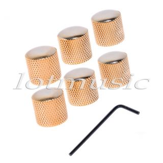 High Quality Gold Dome Volume Tone Control Knob with Screw New