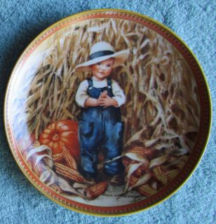 Knowles Childhood Holiday Memories Collectors Plates Thanksgiving