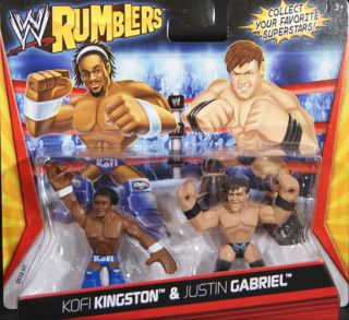 Kofi Kingston Justin Gabriel WWE Rumblers Toy Wrestling Action Figures