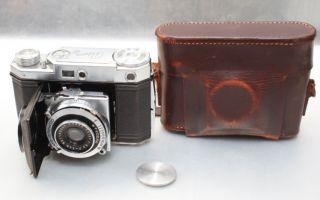 Kodak Retina II Rangefinder Camera+50mm Ektar Lens+Cap+Case++BEAUTIFUL