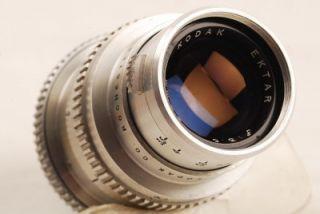 Kodak Ektra RF 90mm F 3 5 Lens Caps Metal Case Nice