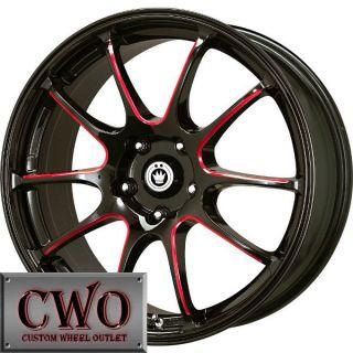 18 Black Konig Illusion Wheels Rims 5x100 5 Lug Jetta Golf Prius TC TT