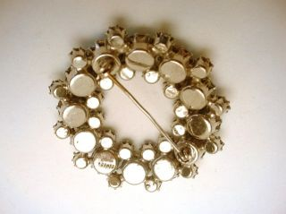 Kramer AB Rhinestone Brooch Pin Prong Set Nice Vintage