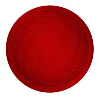 Kopp Glass Red 12 inch Wide Angle Traffic Light Lens