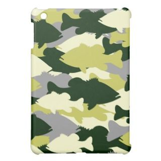 Green Camo Bass Fishing iPad Mini Cases
