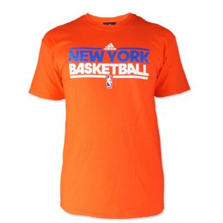 New York Knicks Basketball Orange Adidas Logo T Shirt Mens Sz M 2XL