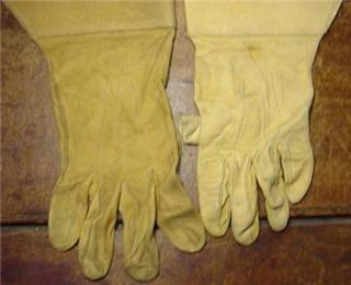 Antique Knights Templar Masonic Calf Leather Gloves Sz 8 1 2